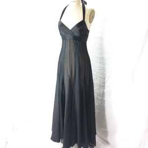 BCBG maxazira 2 petite silk evening halter dress